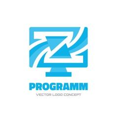 Program - logo concept vector image
