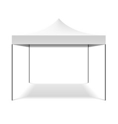 White folding tent vector image