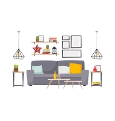 Apartment interior vector image vector image