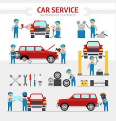 car repair service flat vector image vector image