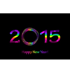colorful 2015 Happy New Year background vector image