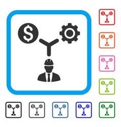 Development relations framed icon vector