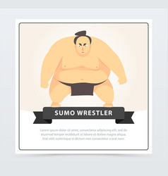 Japanese sumo martial arts fighter sumo wrestler vector