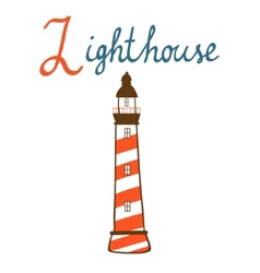 L is for Lighthouse vector image