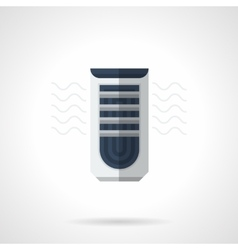 Mobile air conditioner flat color icon vector