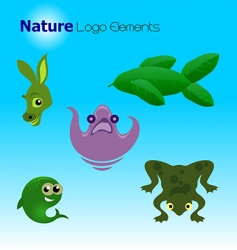 nature logo elements vector image