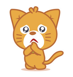 sad cat pets of character vector image vector image