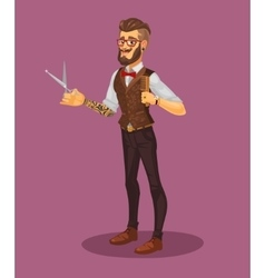 a young stylist vector image