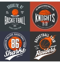 Design for basketball fans usa new york brooklyn vector image vector image