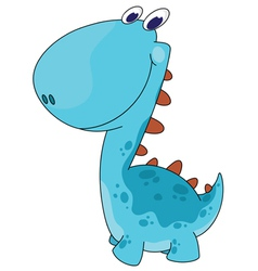 funny smiling dino vector image