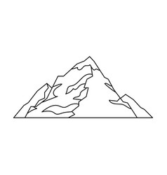 ice mountain covered with snowa mountain for vector image