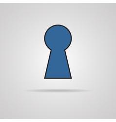 Keyhole icon with shadow vector