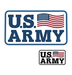 US Army Emblem for army of America Flag of United vector image vector image