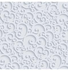 3d Floral Damask Seamless Pattern vector image