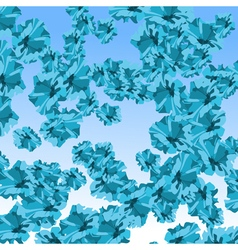 background abstract blue flowers vector image vector image