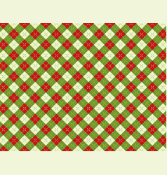 christmas holiday argyle background pattern vector image vector image