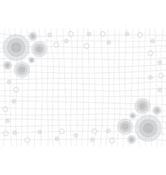 Gray grid white background with circle vector
