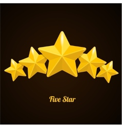 rating with five stars concept on black vector image