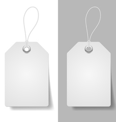 White price tags vector image vector image
