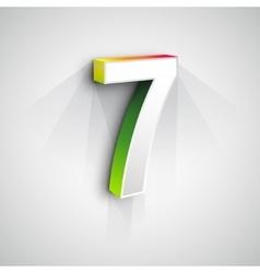 3d number seven vector