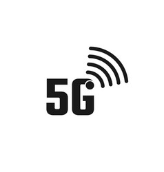 5g internet logo vector image