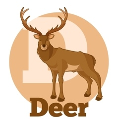 ABC Cartoon Deer vector image