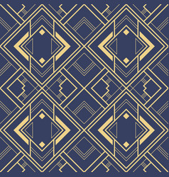 Abstract art deco blue geometric tiles pattern vector
