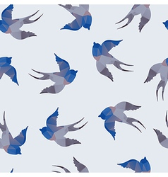 Abstract seamless with swallows vector image