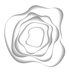 abstract white paper cutout curvy shapes layered vector image