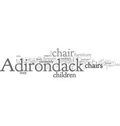 Adirondack chairs for children vector