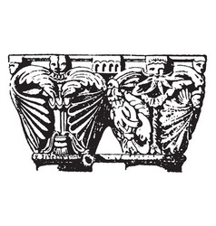 Antic funny vintage engraving vector