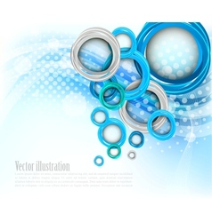 Background with circles vector