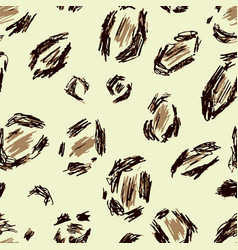 beige black brown leopard skin vector image