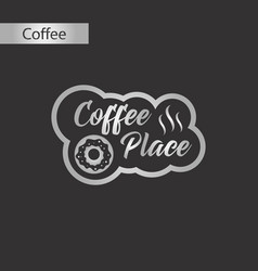 Black and white style icon coffee place logo vector