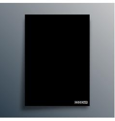 black background template for mockup banner vector image