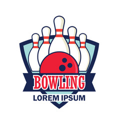 bowling logo with text space for your slogan tag vector image