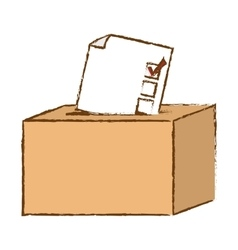 Box of vote icon vector