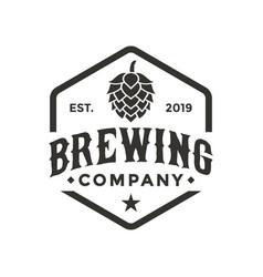 brewing company logo design inspiration vector image