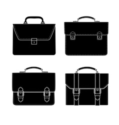 briefcase black and white icon vector image