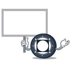 Bring board byteball bytes coin character cartoon vector