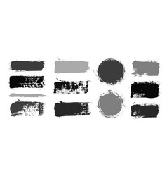 brush strokes paintbrush set grunge vector image