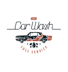 Car wash emblem vector