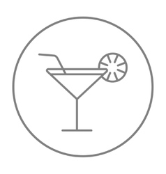 Cocktail glass line icon vector image