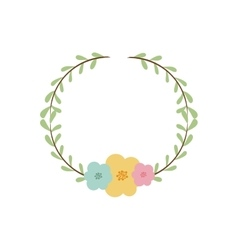 colorful decorative crown branch floral vector image