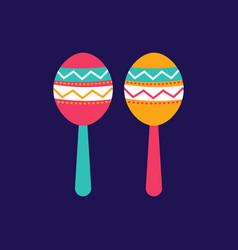 colorful maracas icon cinco de mayo festival in vector image