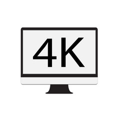 computer monitor 4k on white background computer vector image