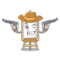 Cowboy easel character cartoon style vector