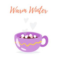 cute cup of tea vector image