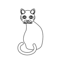 cute kitty mascot icon vector image