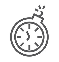 deadline line icon time and clock stopwatch sign vector image